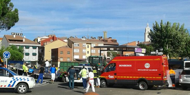 La familia de uno de los fallecidos al volcar un remolque en Tordesillas pide cinco años al conductor