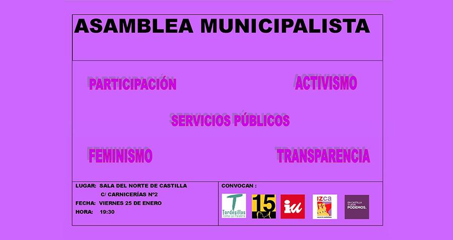 Varias agrupaciones de izquierdas convocan una asamblea municipalista