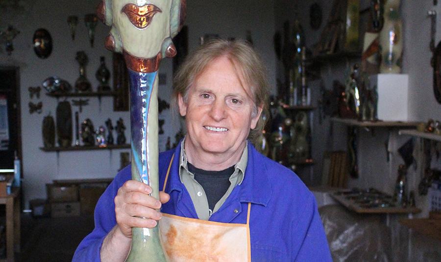 Luis Rivero, galardonado por una trayectoria de más de tres décadas como ceramista