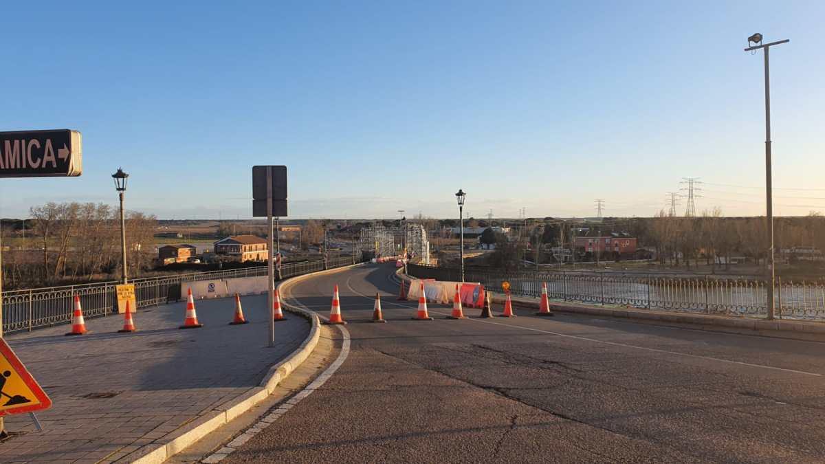 Restablecida la circulación en el puente de Tordesillas