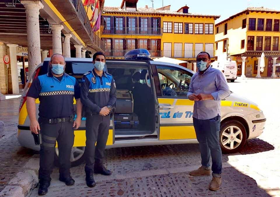 Tordesillas incorpora un coche radar y un alcoholímetro evidencial a su Policía Local