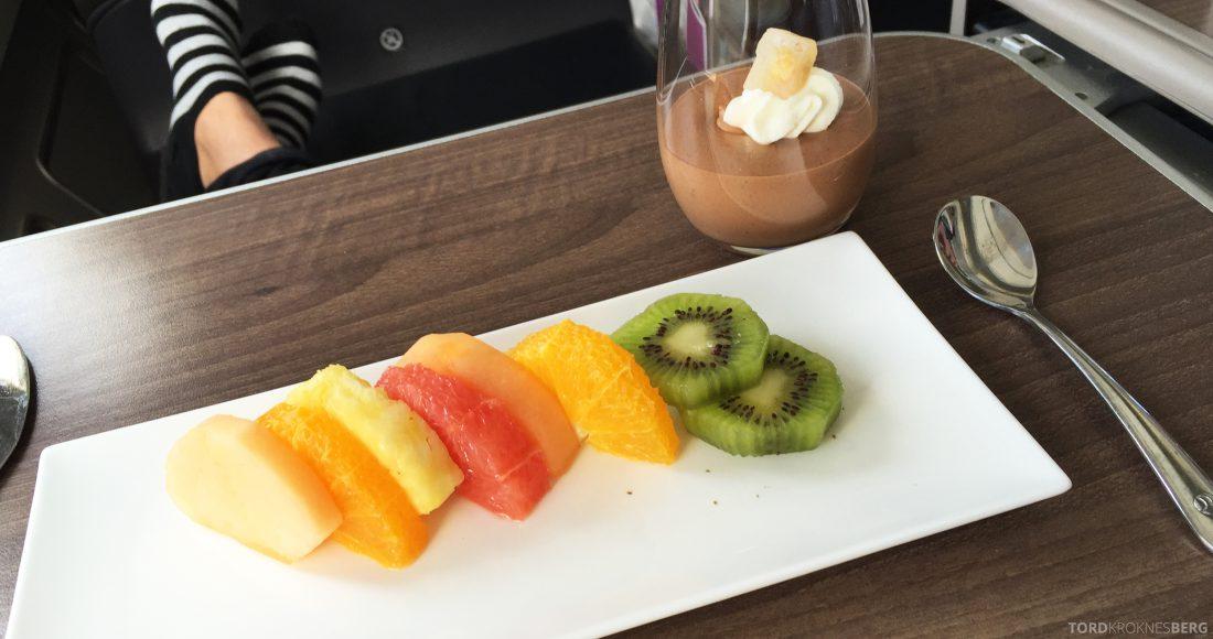 Turkish Airlines Business Class Boston dessert