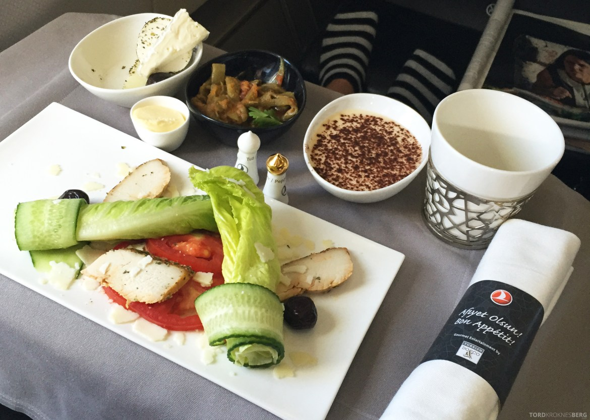 Turkish Airlines Business Class Boston lunch