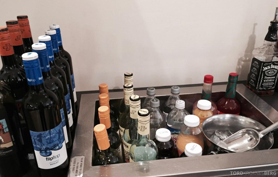 SAS Lounge New York drikke