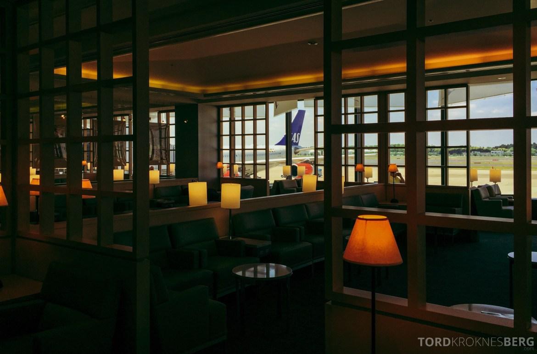 United Club Lounge Tokyo utsikt.