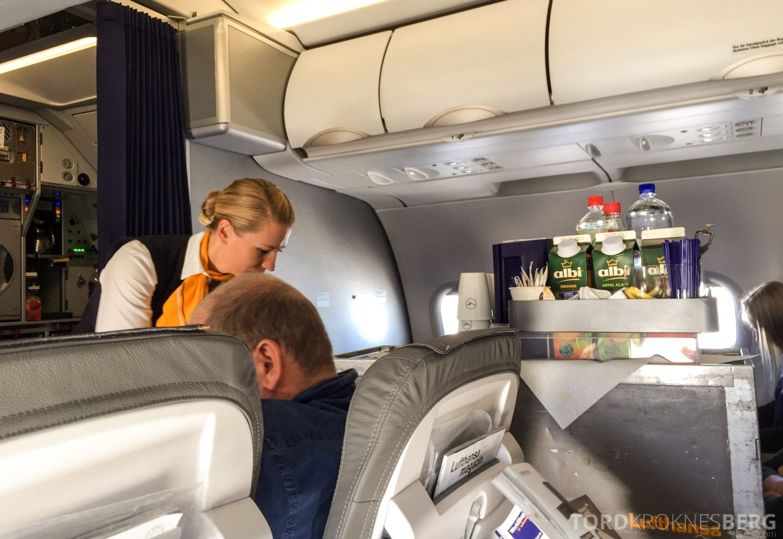 Lufthansa Business Class i Europa fra Oslo til München servering