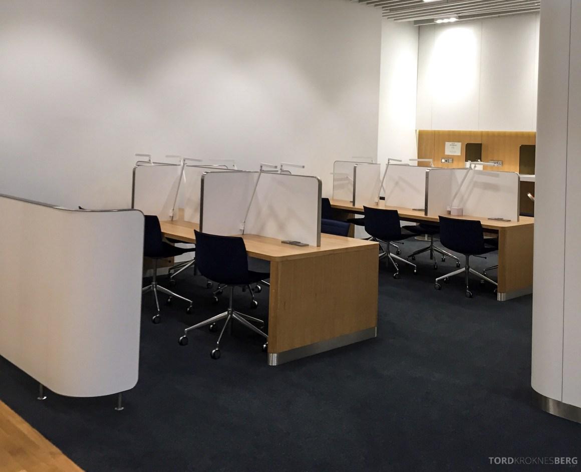 Lufthansa Senator Lounge München lesesal og kontorplasser