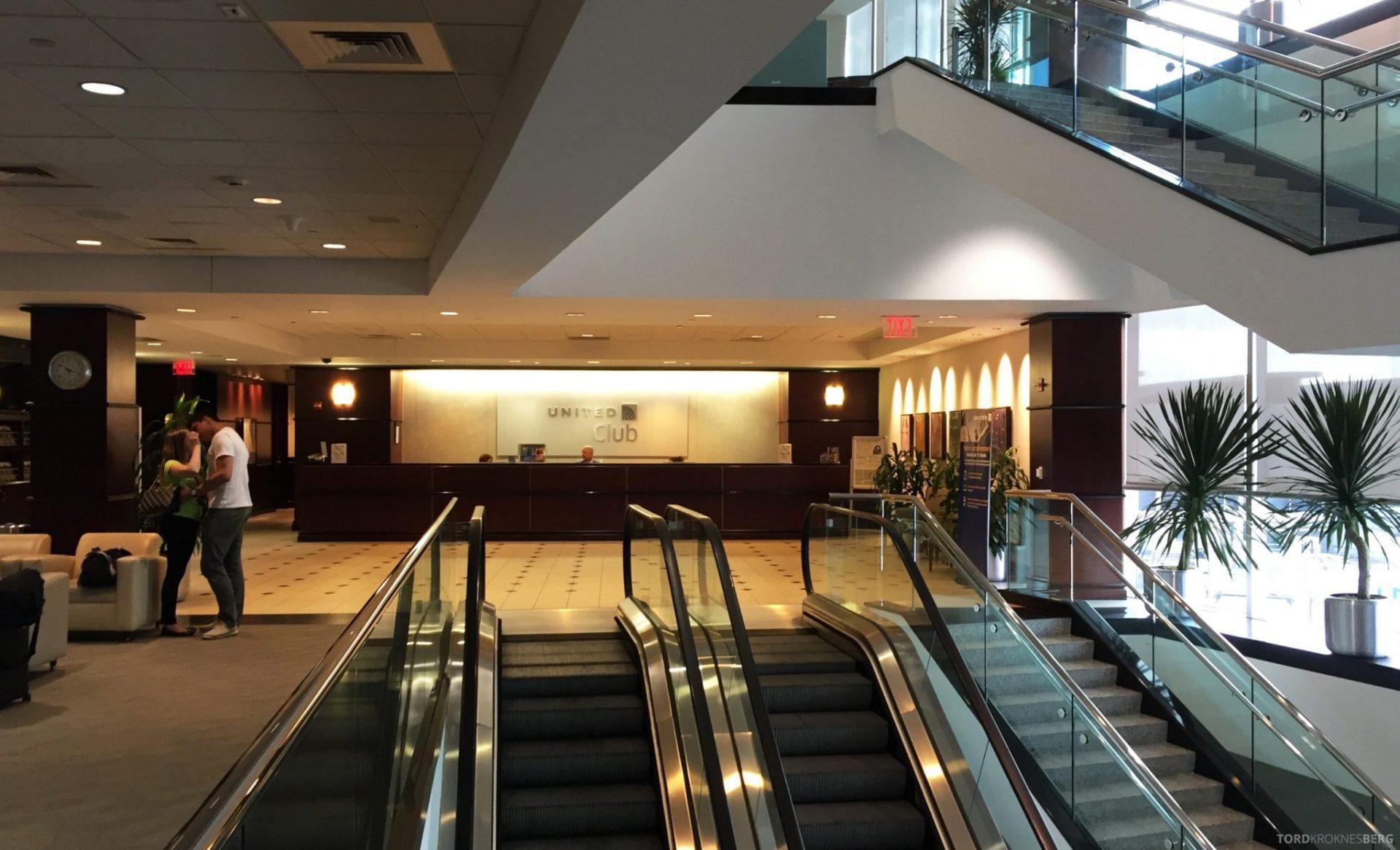 United Club Lounge Houston resepsjon