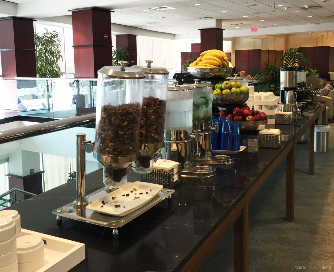 United Club Lounge Houston buffet
