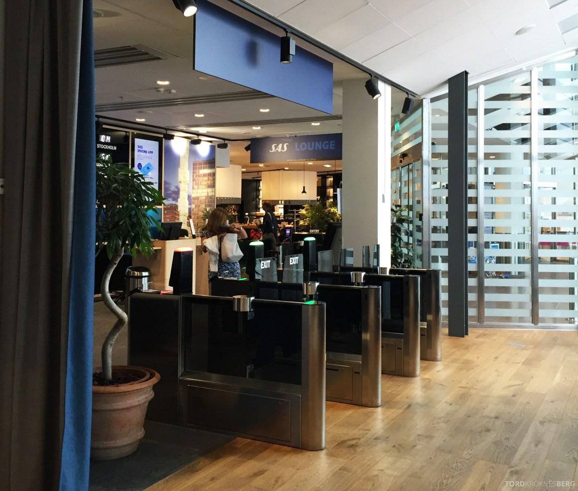 SAS Gold Lounge Stockholm inngangsparti