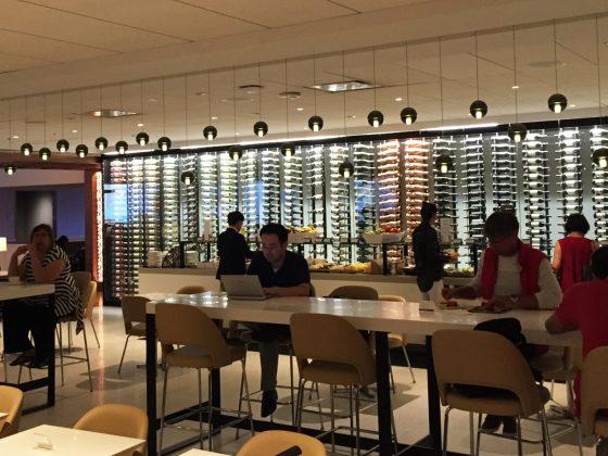 Star Alliance Gold Lounge LAX utsikt mot buffet