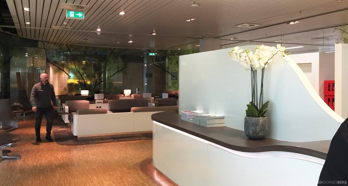 Aspire Lounge Schiphol Amsterdam resepsjon