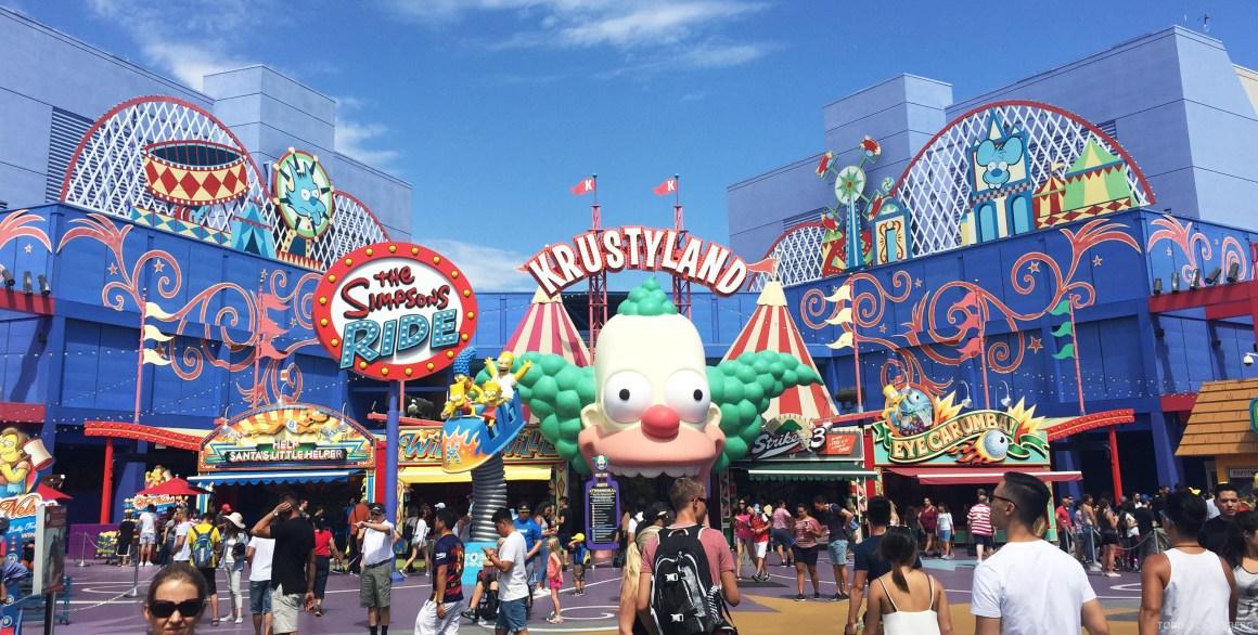 Universal Studios Hollywood Simpsons