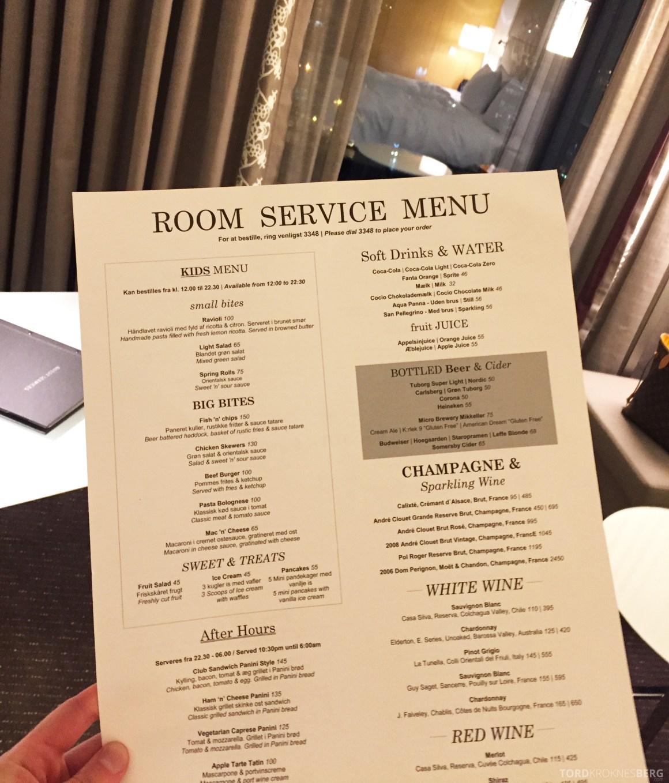 Hilton Copenhagen room service