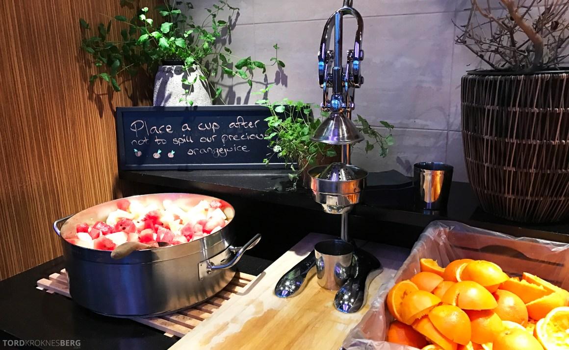 Radisson Blu Scandinavia Hotel frokostbuffet juice