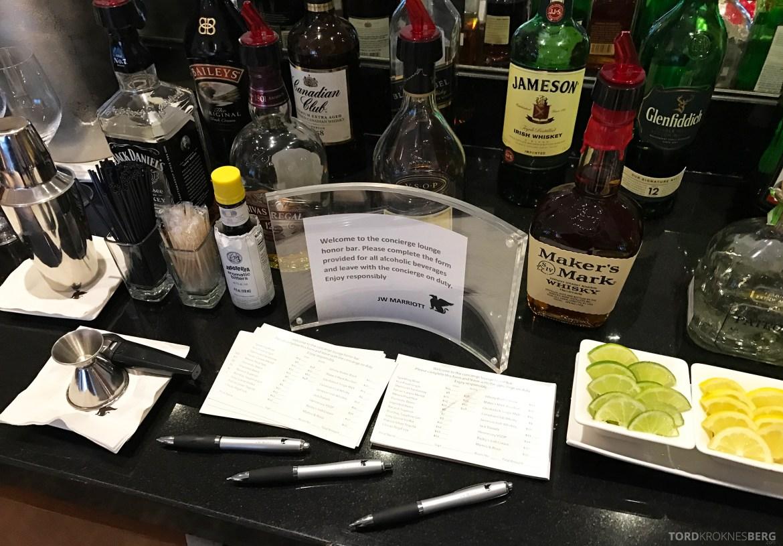 JW Marriott Marquis Miami Executive Lounge drikke
