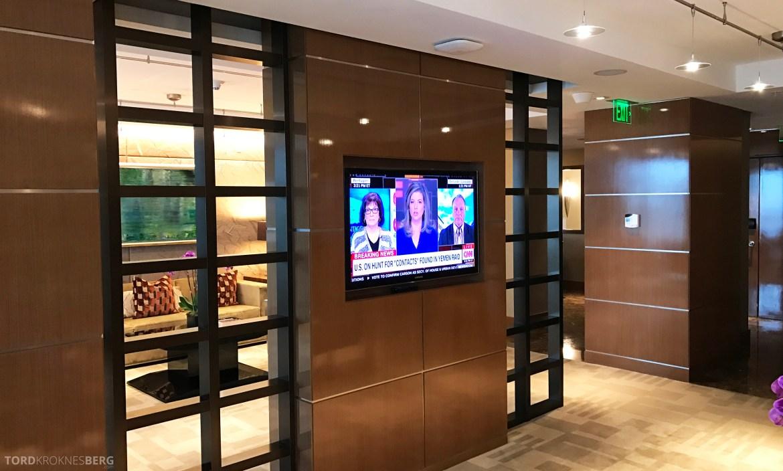JW Marriott Marquis Miami Executive Lounge tv