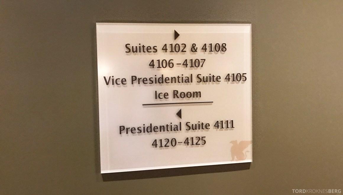 Presidential Suite JW Marriott Marquis Miami skilt