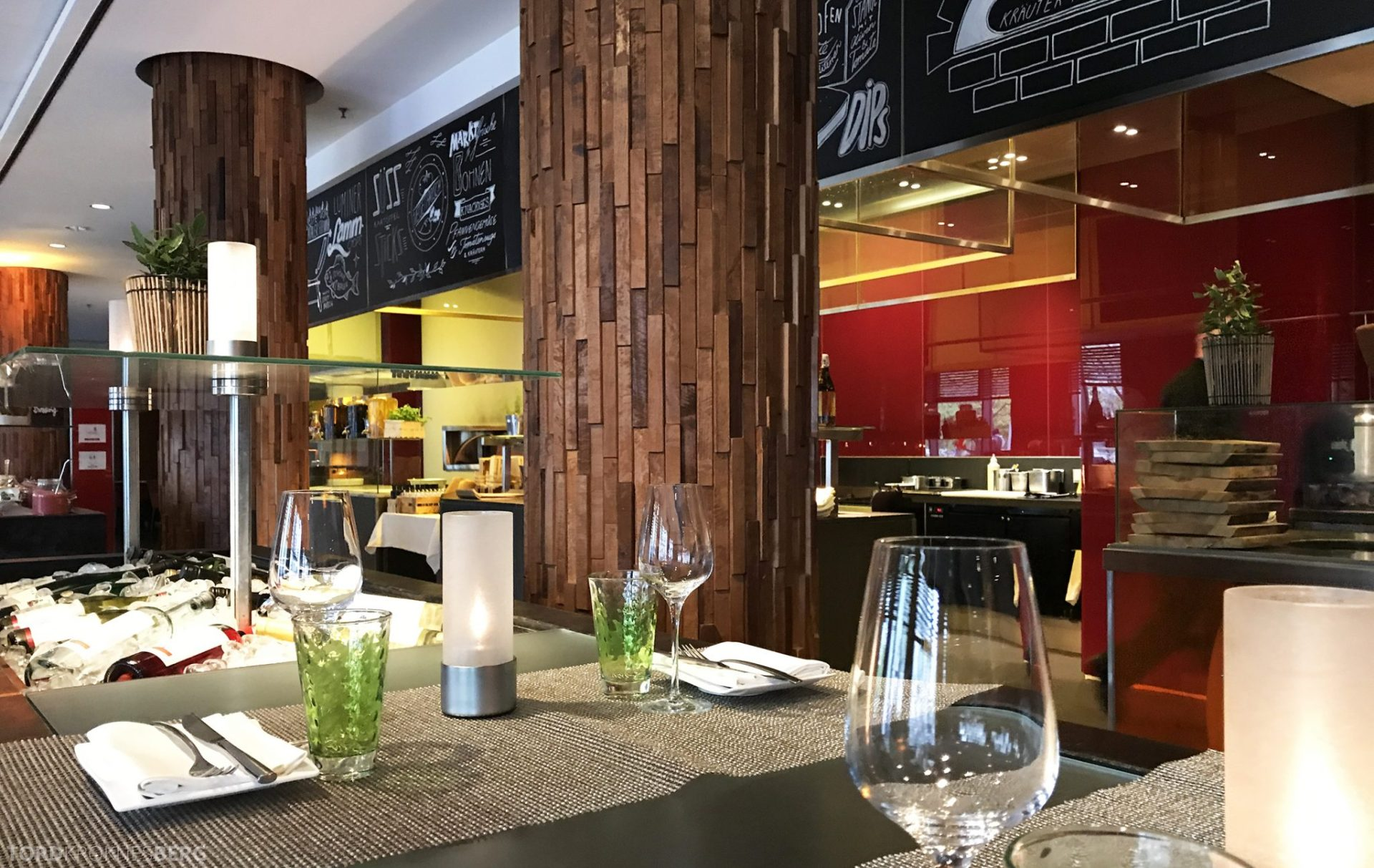Restaurant Heat Radisson Blu Berlin detaljer