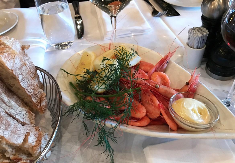 Louise Restaurant Bar Aker Brygge reker