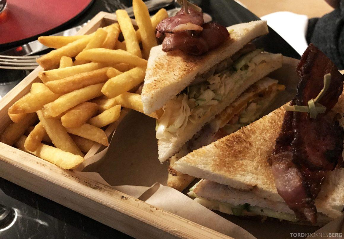 The Ritz-Carlton Berlin Club Lounge room service sandwich
