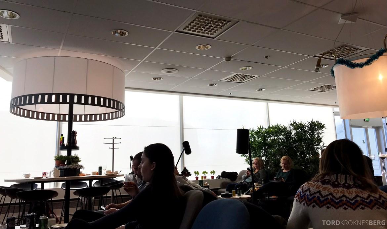 SAS Plus Paris Oslo lounge