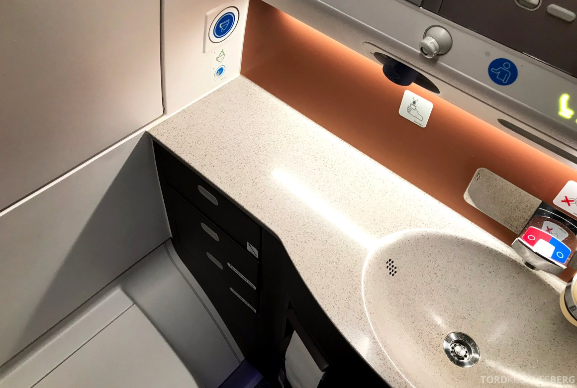 Singapore Airlines Business Class Amsterdam Singapore toalett