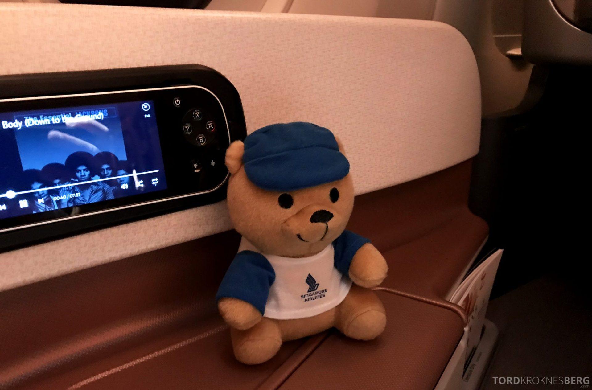 Singapore Airlines Business Class Singapore Amsterdam reisefølge
