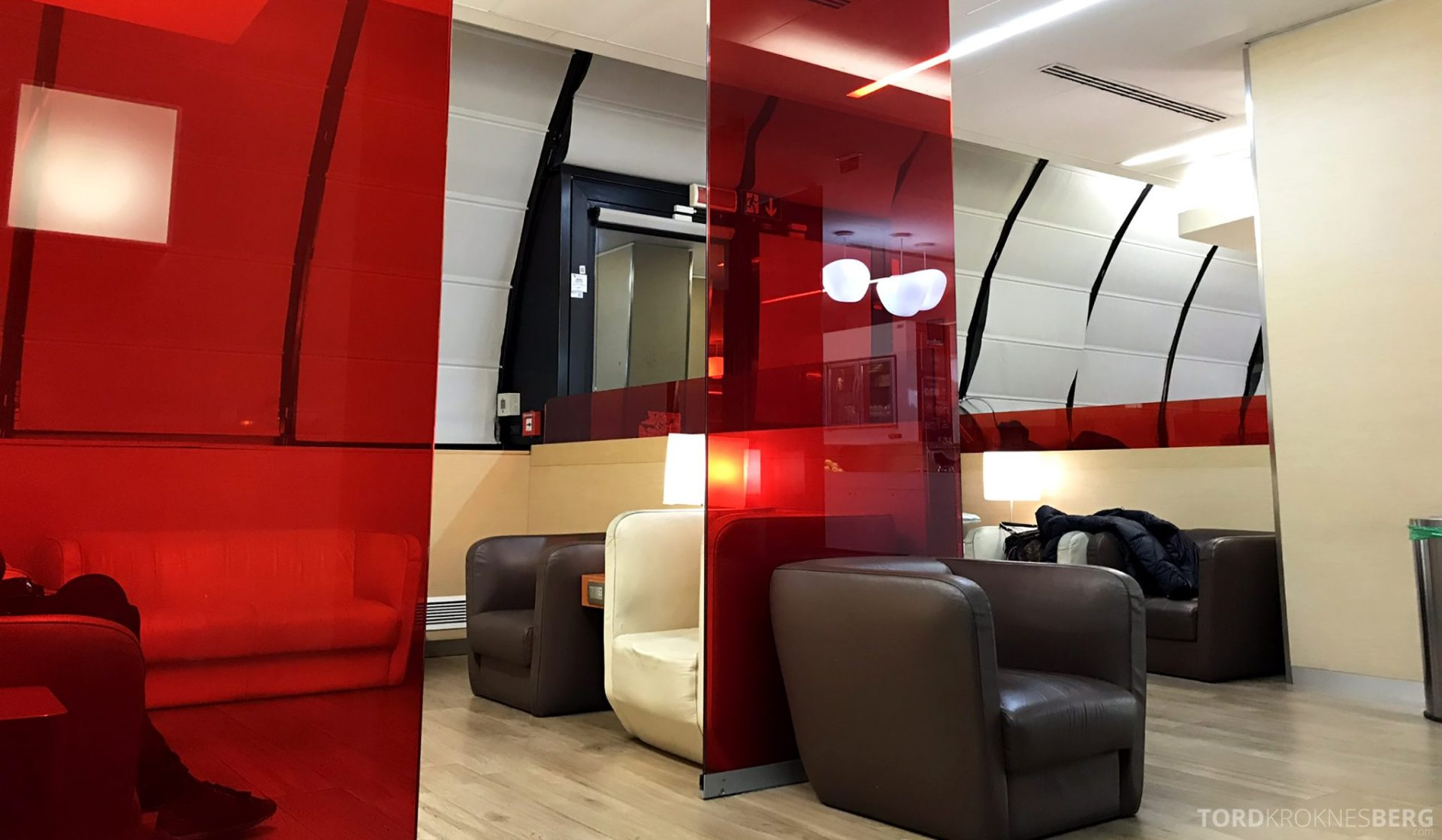 Alitalia Lounge Roma interiør