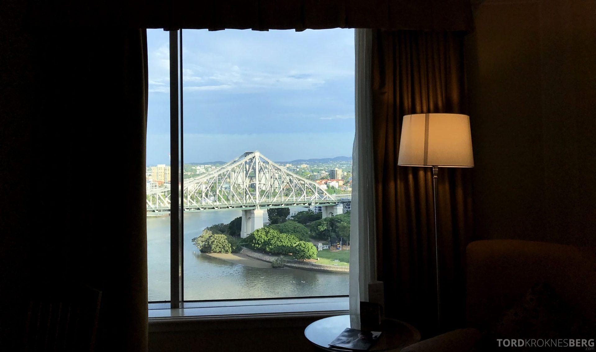Brisbane Marriott Hotel utsikt værelse