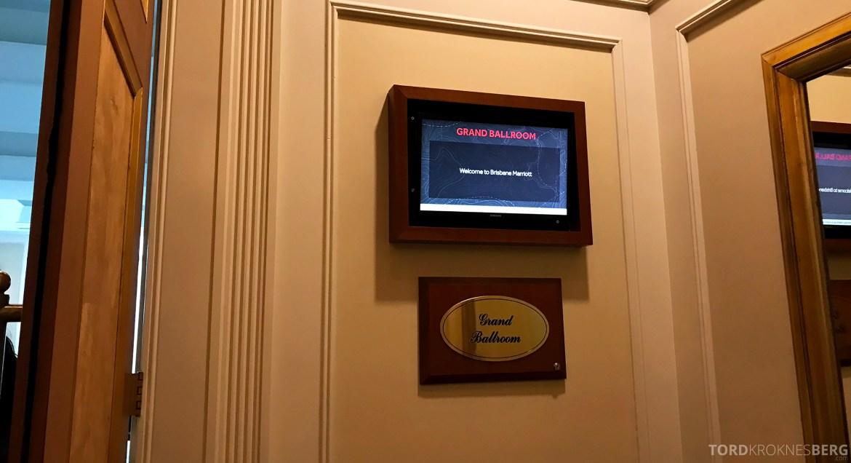 Brisbane Marriott Hotel Executive Lounge ballroom