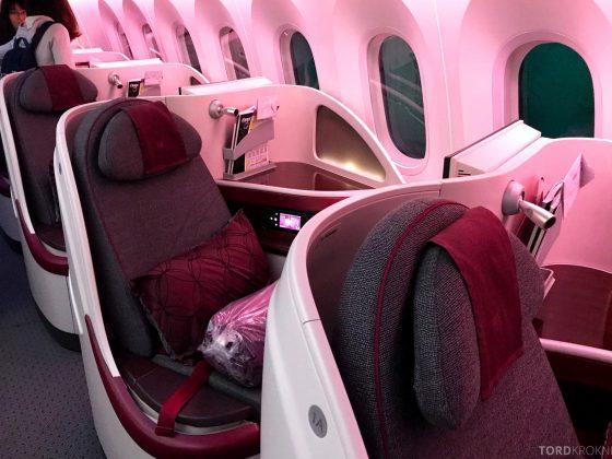 Qatar Airways Business Class Doha Penang sete
