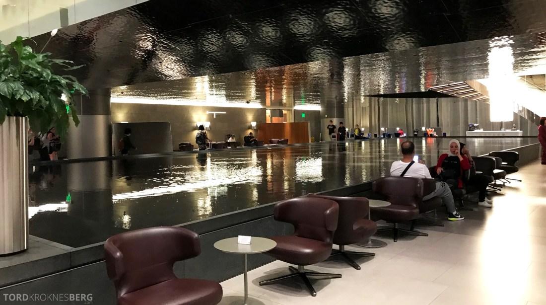 Qatar Airways Al Mourjan Business Class Lounge Doha detaljer