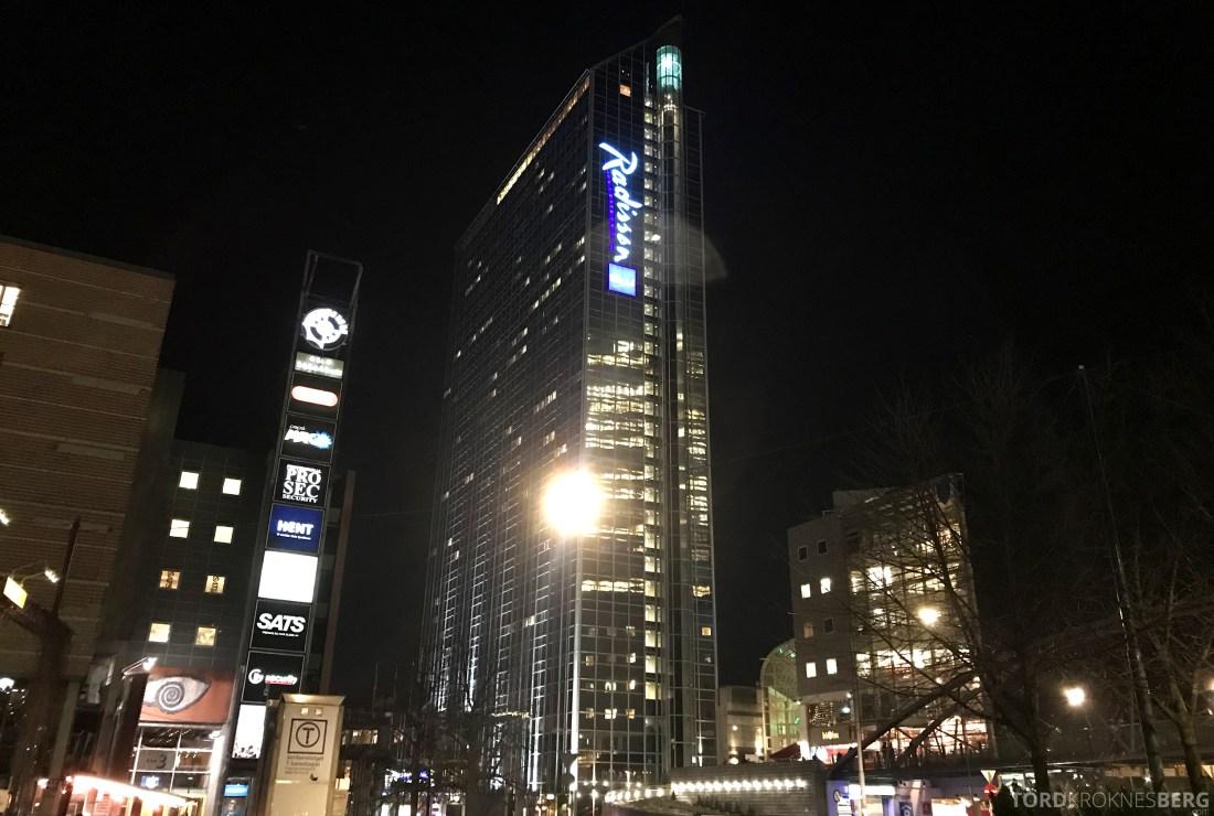 34th Restaurant & Bar Radisson Blu Oslo Plaza Hotel fasade