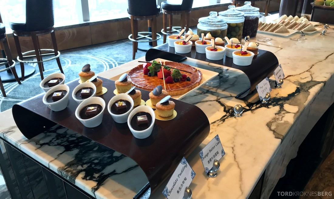 Ritz-Carlton Hong Kong Club Lounge lunch dessert