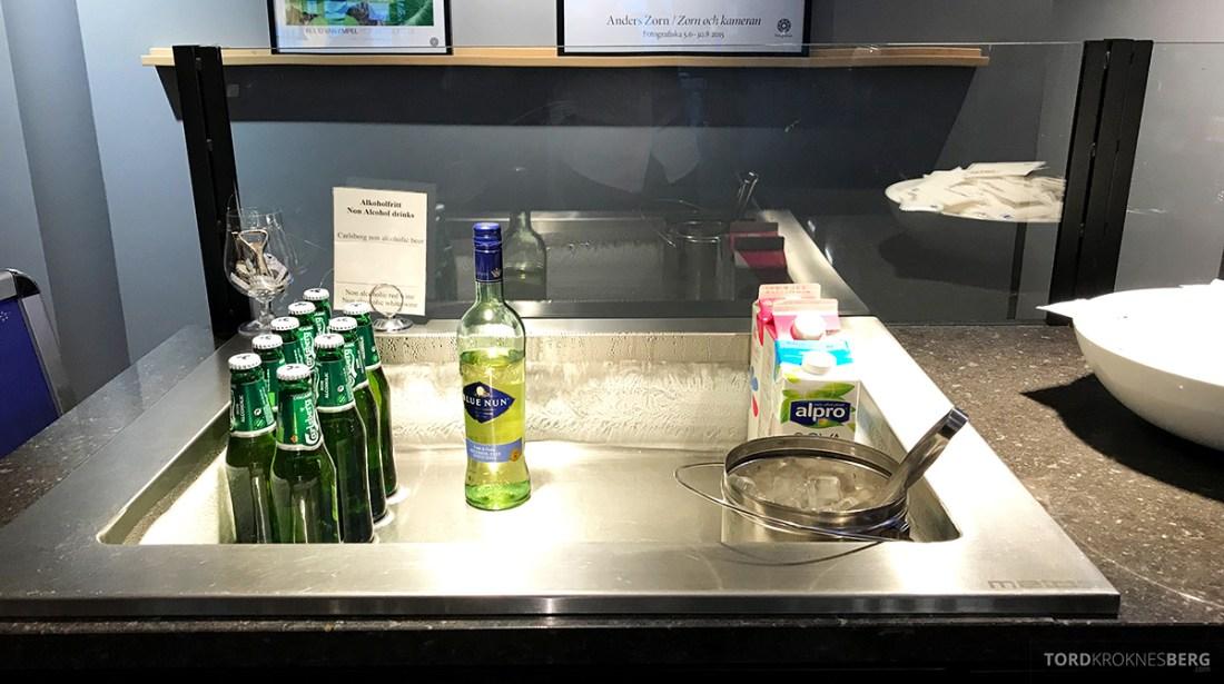 SAS Lounge International Oslo Gardermoen alkoholfritt