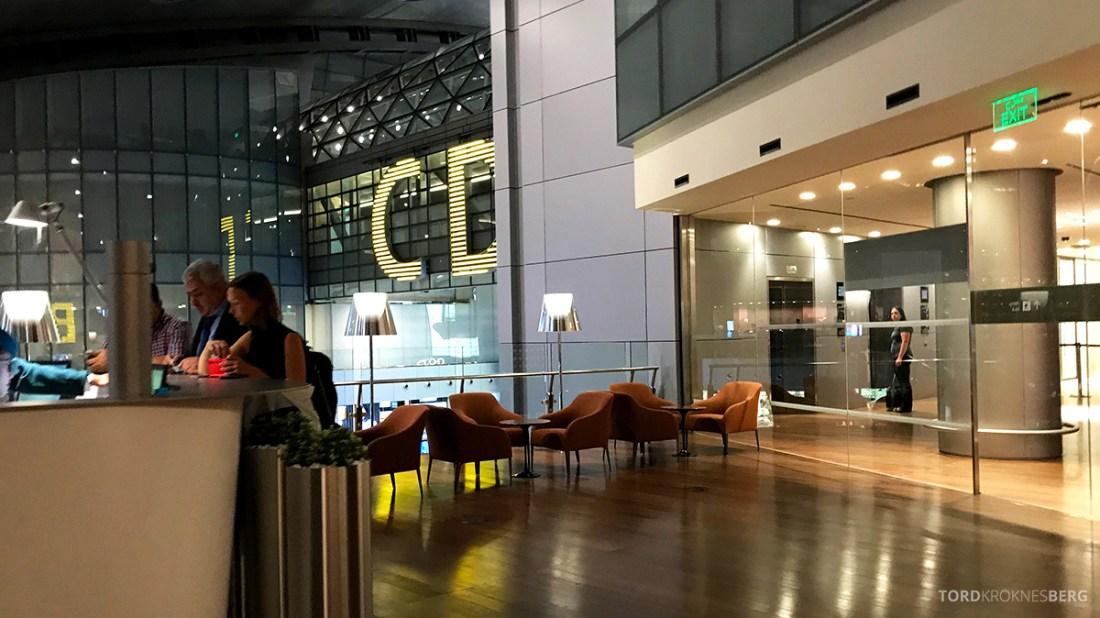 Oryx Business Lounge Doha velkomstområde