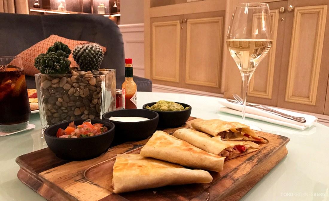 Ritz-Carlton Doha Club Lounge quesadilla room service