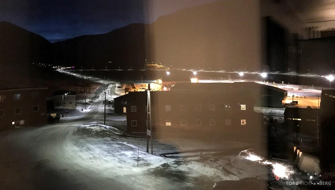 Funken Lodge Svalbard utsikt