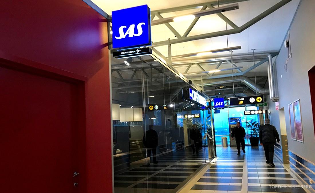 SAS Café Lounge Tromsø korridor
