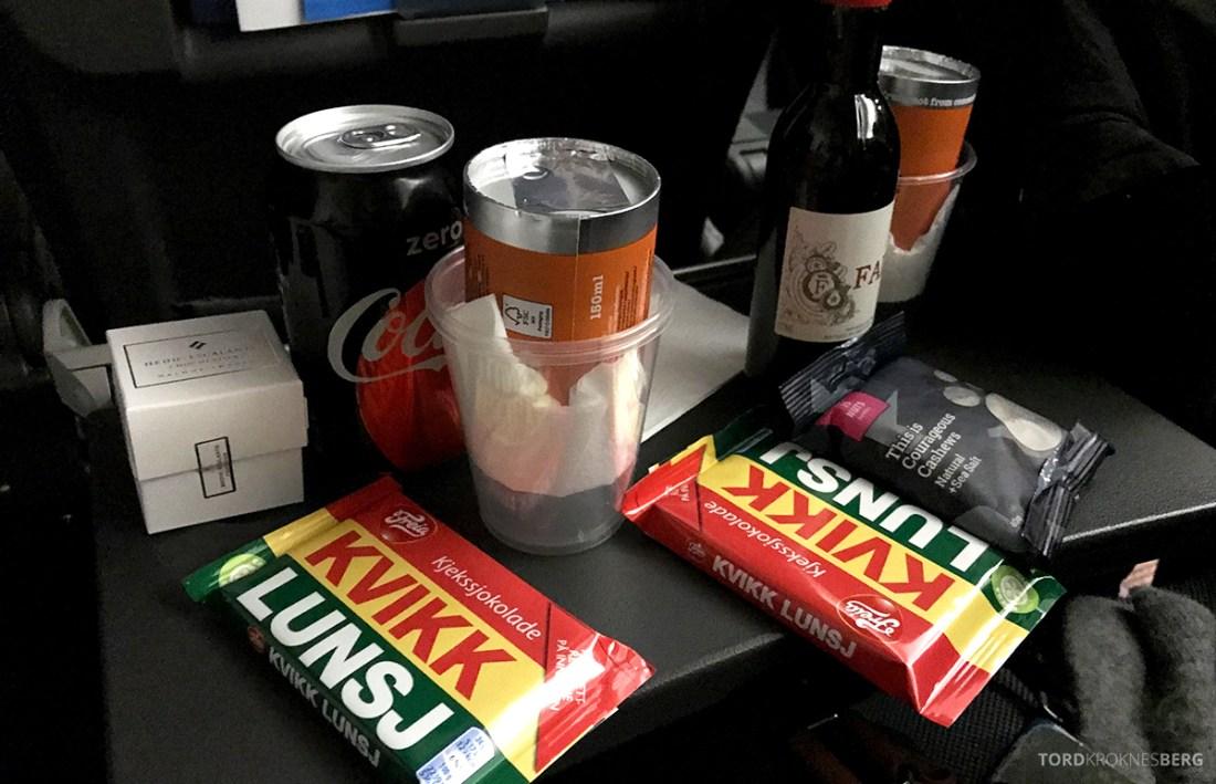 SAS Plus Svalbard Oslo snacks og drikke