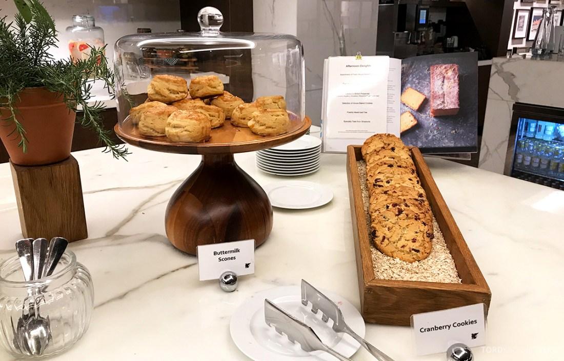 JW Marriott Hotel Grosvenor House London Executive Lounge afternoon tea scones
