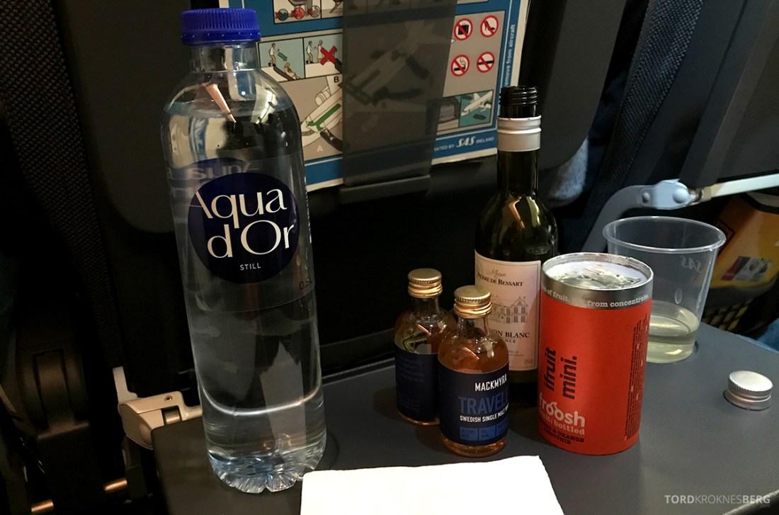 SAS Ireland Oslo London drikke