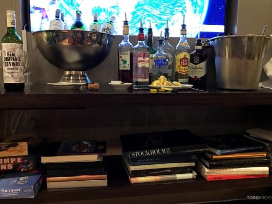 Sheraton Hotel Stockholm Club Lounge drikke