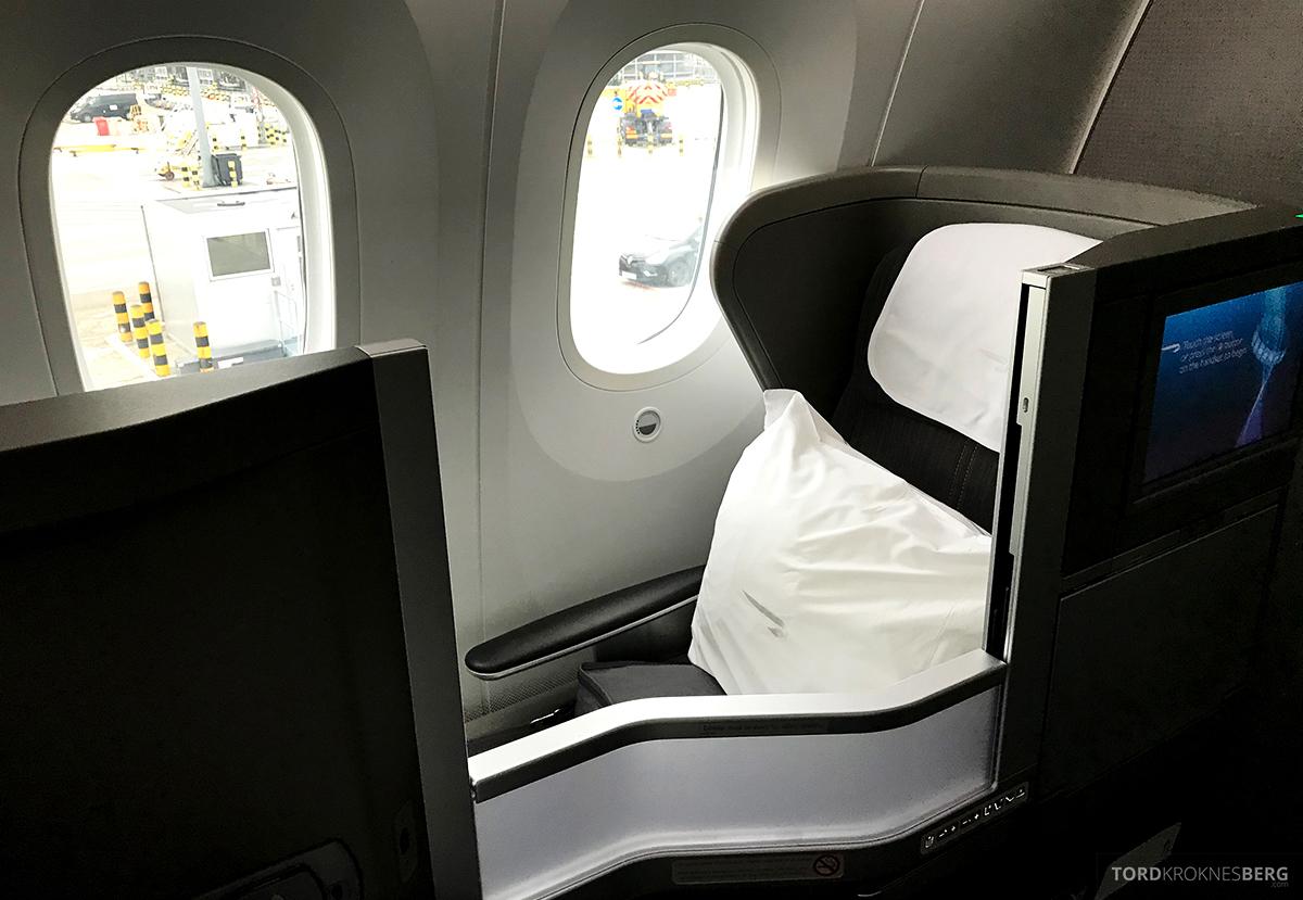 British Airways Club World Business Class London Seoul sete