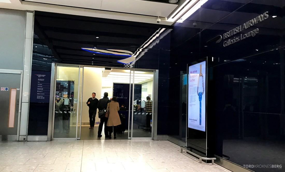 British Airways Galleries Club Lounge Heathrow London inngang
