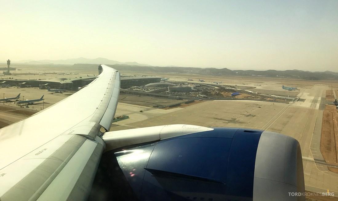 British Airways Club World Seoul London adjø
