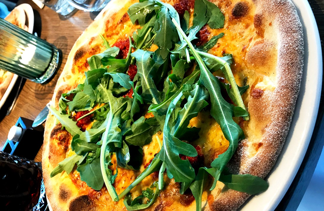 The Well Spa Oslo pizza