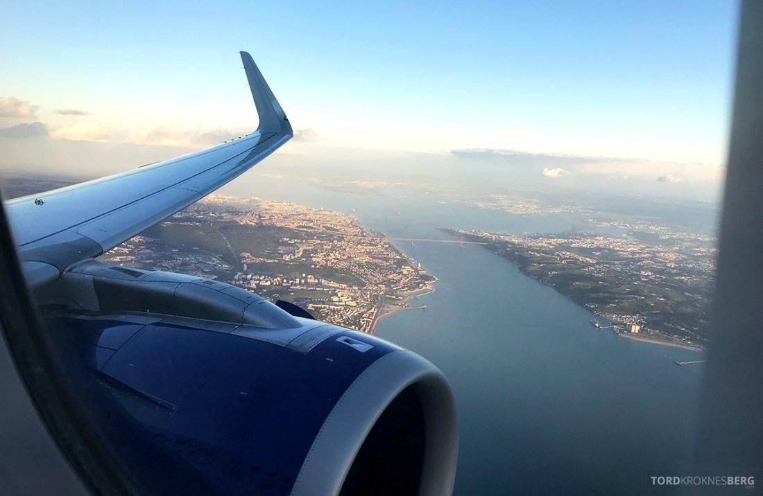 British Airways Club Europe Oslo Lisbon innflyvning