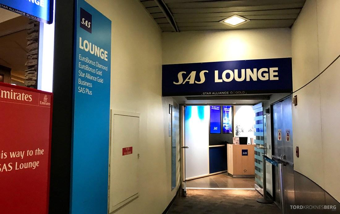 SAS Plus New York Oslo direkte lounge inngang